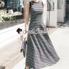 ชุดเดรสเกาหลี พร้อมส่งArora Stripy Maxi Dress