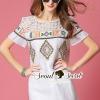 ชุดเดรสเกาหลี พร้อมส่งNetty Bohe Color Stick Dress