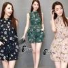 เสื้อผ้าเกาหลี พร้อมส่งPretty Floral Top + Short Set