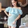 ชุดเดรสเกาหลี พร้อมส่งMini dress เปิดไหล่งานสวยๆ ไฮโซ จากแบรนด์ lucky chouette