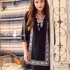 เสื้อผ้ามาแรง พร้อมส่งH&M black long sleeve dress embroidered Bohemian style