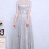 ชุดเดรสแฟชั่น พร้อมส่งNancy Luxury Grey Silver Dress