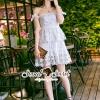 ชุดเดรสเกาหลี พร้อมส่งSPT Ivory Princess Lace Dress