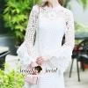 ชุดเดรสเกาหลี พร้อมส่ง Layer Sleeve Princess Lace Dress