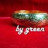 กำไลถมทอง หน้ากว้าง 2 cm. แบบล็อค โดย เครื่องถมนคร by green