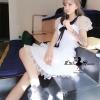 ชุดเดรสเกาหลี พร้อมส่งDolly dress white like pretty kawaii fashion