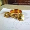 กำไลถมทอง และ จี้ถมทอง ลายดอกพุดตาน งานสั่งทำเป็นชุด