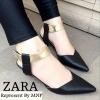 Shoes STYLE ZARA leather snakeskin แบบขายดี @ รองเท้าคัทชู STYLE ZARA หนังลายหนังงู สายปรับได้แบบเมจิคเทปใส่แล้วกระชับเท้า พื้นตีแบรนด์ ZARA ทรงสวย ใส่แล้วดูเท้าเรียว ดูดีฝุดๆจ้า $ ขนาดไซส์ปกติ $ 36_37_38_39_40 ^ สูง 1 นิ้ว & มี 2 สี ดำ มัสตาร์ด ราคา 890