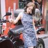 ชุดเดรสเกาหลีพร้อมส่ง Dress แขนกุดคอกลม เว้าเอว Sexyนิดๆ