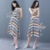ชุดเดรสเกาหลี พร้อมส่งMaxi Dress ลายกราฟฟิกสีสันสวยงาม