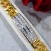 พร้อมส่ง Gold Bangle สร้อยข้อมือทอง ประดับเพชรสวิสอย่างดี
