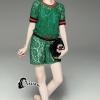 เสื้อผ้าเกาหลี พร้อมส่งเซ็ทเสื้อลูกไม้สีเขียว พร้อมกางเกงขาสั้น