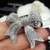 พร้อมส่ง โบว์เล็ก Diamond Brooch เข็มกลัดเพชร