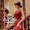 ( พร้อมส่ง) เดรสสไตล์คุณหนู สาวหวานๆ สดใส หรูหราด้วยผ้าลูกไม้สีแดงลวดลายสวยงาม ลายชัด มีซับในนะคะ