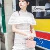 ชุดเดรสเกาหลีพร้อมส่ง มินิเดรสแบรนด์เนมขึ้นตัวอย่างแพทเทิร์นจากงานจริงนะคะ