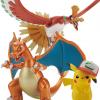 เปิดจอง [Jul'17] Pokémon PLAMO COLLECTION HOUOU & LIZARDON & SATOSHI'S PIKACHU SET