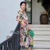 เสื้อผ้าแฟชั่นเกาหลีพร้อมส่ง Flower print summer dress
