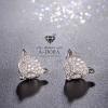 พร้อมส่ง Fashion Animal Fox Stud Earrings งานเพชร CZ แท้