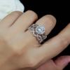 Diamond Ring งานเพชร CZ แท้ ดีไซส์เพชรละเอียดเพชรชูไซว์ 1.5 กะรัต เซตละ 2 วง