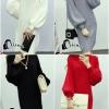 เสื้อผ้าเกาหลี พร้อมส่งไหมพรมแขนยาวคอเต่างานสวยราคาเบาๆจ้า