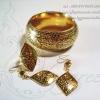 กำไล ต่างหูและแหวนถมทอง งานลูกค้าสั่งทำ โดย เครื่องถมนคร by green