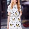 เสื้อผ้าเกาหลีพร้อมส่ง Kitten Lovely Polo Dress