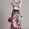 เสื้อผ้าเกาหลี พร้อมส่ง fashionista zoo printing sleeveless top feminine