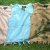 เสื้อผ้าเกาหลี พร้อมส่งเสื้อลูกไม้คอวีถักลายวินเทจแขนกุด