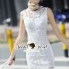 ชุดเดรสเกาหลี พร้อมส่งPrincessly Ivory Lace Dress