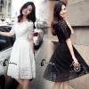 ชุดเดรสเกาหลี พร้อมส่งLuxury Lace Dress