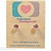 ต่างหูพลาสติก,ต่างหูก้านพลาสติก,ต่างหูเด็ก E29037 Tiny Little Light Brown Gems