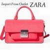 Zara MESSENGER BAG WITH METAL CLASP Size 14 x 17 x 6 cm. สี : Strawberry
