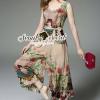 เสื้อผ้าเกาหลี พร้อมส่งCreamy Peafow Blossom Chic Set