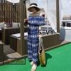 เสื้อผ้าเกาหลีพร้อมส่ง Jumpsuit ขายาวเปิดไหล่
