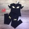 เสื้อผ้าแฟชั่นเกาหลีพร้อมส่ง Set เสื้อ+กางเกงพิมพ์ลายคมชัด