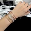 พร้อมส่ง Chanel Bracelet กำไลชาแนลฝังเพชร CZ แท้รอบวง มี 3 สี