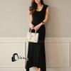 ชุดเดรสเกาหลี พร้อมส่งClassic Korean Long Black Dress