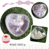 ถาดฟอยล์หัวใจ เบอร์6302-P +ฝา (10 ใบ)