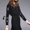 ชุดเดรสเกาหลี พร้อมส่งWinter Sportswear Luxury Dress