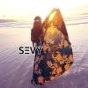 ชุดเดรสเกาหลี พร้อมส่งMaxi Dress สีดำยาวพิมพ์ลายดอกไม้สีส้มสุดหรู