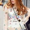 เสื้อผ้าเกาหลี พร้อมส่งGloria Princess Blossom Color Stik Net Blouse