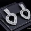 พร้อมส่ง Diamond Earring งานเพชร CZ แท้ ดีไซส์หัวใจ
