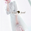 ชุดเดรสเกาหลี พร้อมส่งLovely Dotty White Curvy Lace Dress