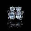 พร้อมส่ง Diamond Earring งานเพชร CZ แท้ ดีไซส์แมวเหมียว