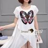 ชุดเดรสเกาหลี พร้อมส่ง Lofty Butterfly Knit Dress
