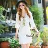 ชุดเดรสเกาหลี พร้อมส่งWhite boutique autumn classic dress