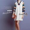 ชุดเดรสเกาหลี พร้อมส่งcolourful authumn dress