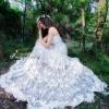 ชุดเดรสเกาหลี พร้อมส่งMaxi Dress สุดสวยตัวขุดปักเย็บผีเสื้อ 3D