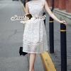 เสื้อผ้าเกาหลี พร้อมส่งClassicly Ivory Lace Long Playsuit