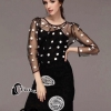 เสื้อผ้าเกาหลี พร้อมส่ง DG Luxury Top + Skirt Set